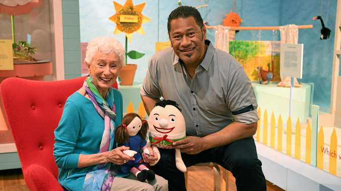 CHILDRENS SHOW: Benita Collings and Jay Laga'aia at the Play School exhibition at BRAG.