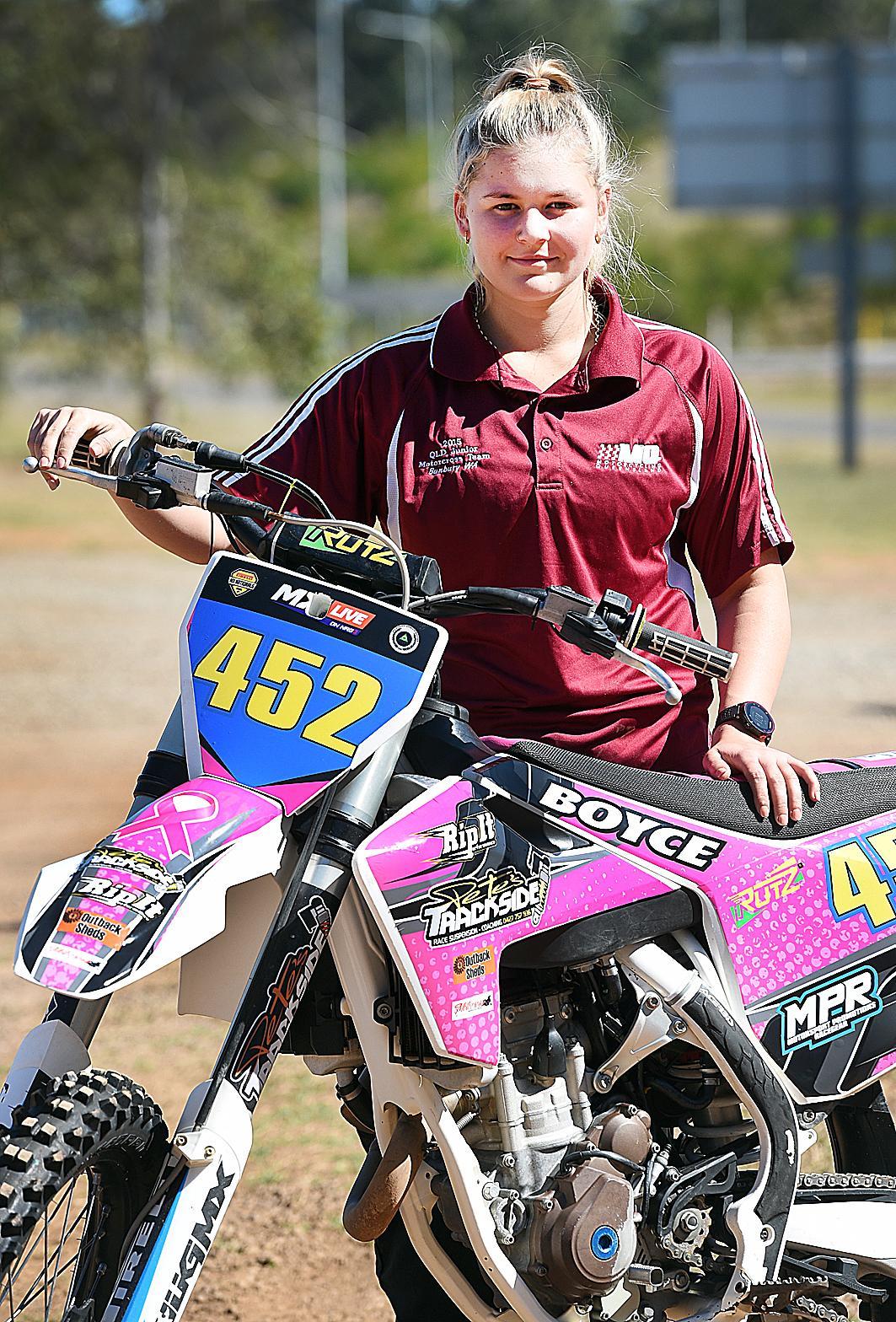 Motorcross rider Britney Boyce.