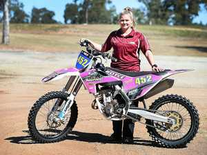 Boyce turns bike pink for MX Nationals and fundraiser