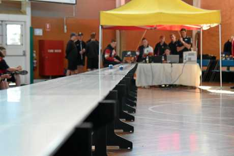 The finals of Warwick State High Schools CO2 Dragster Competition were held on August 10.