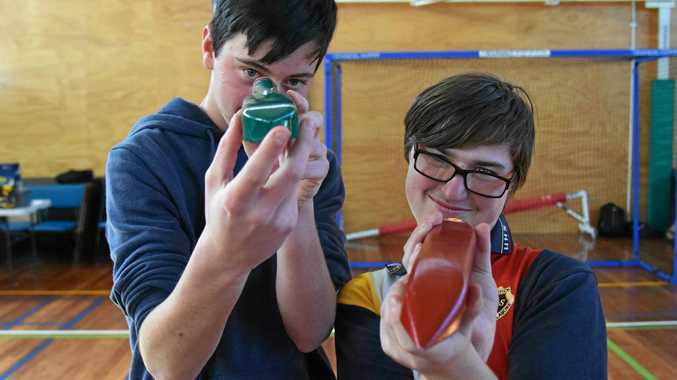 Zac Amey (left) won the Engineering Technology category while Tim Boundey (right) won the Primary and Special Education category.