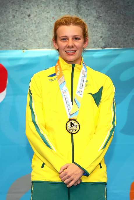 CHAMP: Ella Boot in green and gold, at a previous event.