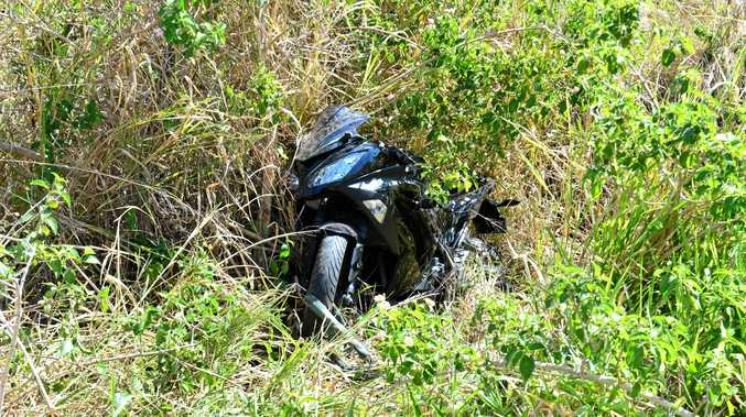 A motorbike rider was killed in a single-vehicle crash between Marcoola nad Coolum yesterday.