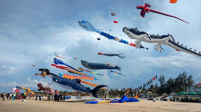 UP IN THE AIR: The Fraser Coast Kite Karnival will be held today.