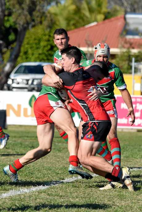 Wests' James Prichard. Bundaberg Rugby League: Hervey Bay Seagulls v Wests Panthers at Stafford Park, Hervey Bay.
