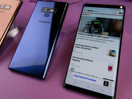 The cheapest Note 9 will arrive with 128GB of storage space, while the most expensive will boast an impressive 512GB, while both feature a 12-megapixel camera. Picture: Supplied
