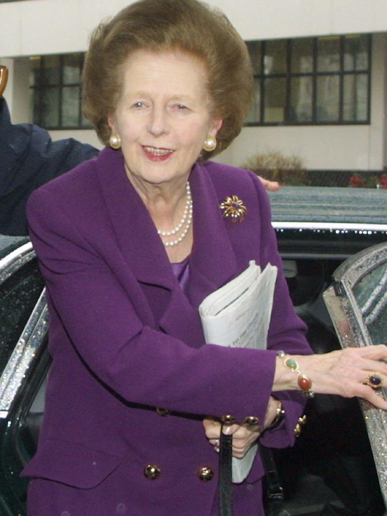 British politician former Prime Minister Baroness Margaret Thatcher