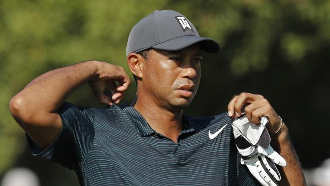 Tiger Woods has moved into contention at the PGA Championship.