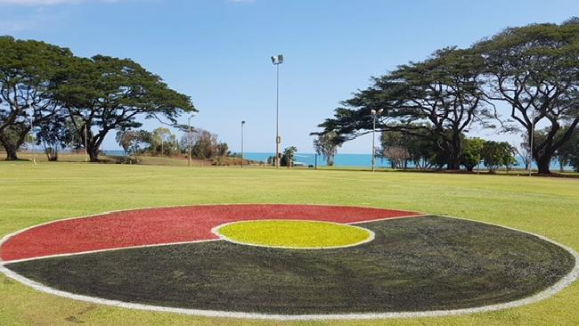 The centre circle at Alyangula Oval.