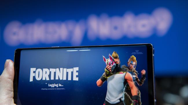 Samsung has partnered with gaming phenomenon Fortnite to provide exclusive content to its Galaxy Note 9 buyers. Picture: Jennifer Dudley-Nicholson