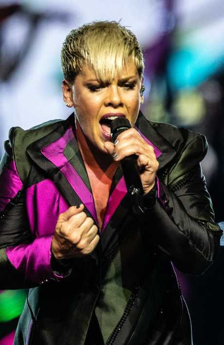 Troubled by ill-health during this tour, Pink vows to put on active, acrobatic shows for her fans. Picture: Richard Wainwright/AAP