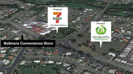 The site of a proposed Woolworths and 7 Eleven development north of Brisbane.