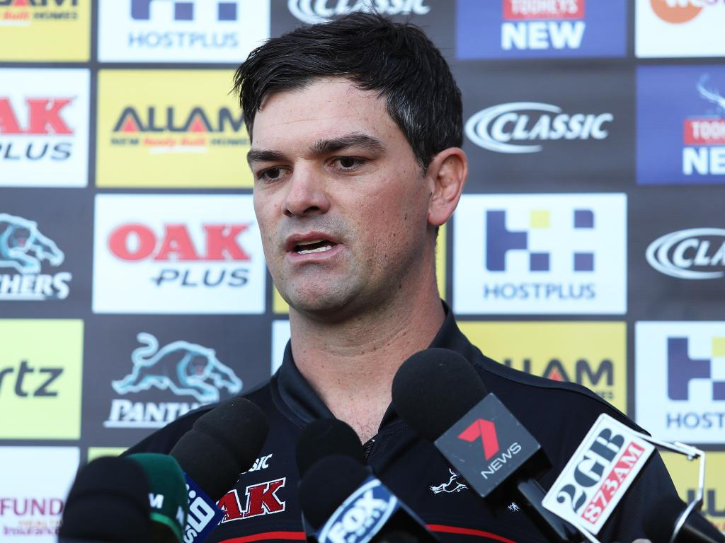 Panthers caretaker coach Cameron Ciraldo. Picture: Brett Costello
