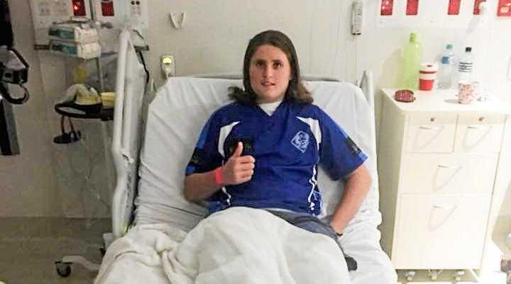 Ben Baker Whalley in hospital.