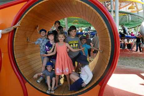 Kershaw Gardens has officially reopened as Rockhampton's biggest back yard, to the delight of hundreds of families who turned out to the party.