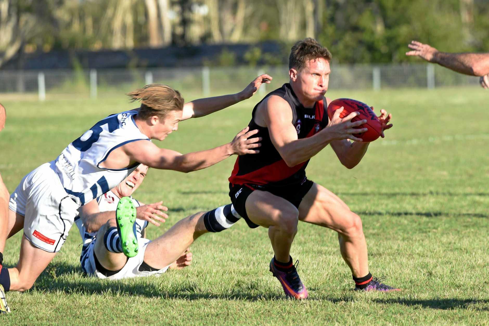 AFL - Hervey Bay Bombers versus Gympie Cats - Travis Mills.