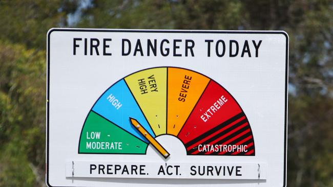 The six levels of the fire danger rating.