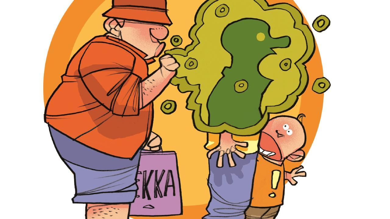 The cougher. Illustration by Brett Lethbridge