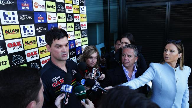 Griffin also played down specualtion of his poor relationship with interim coach Cameron Ciraldo. Picture: Brett Costello