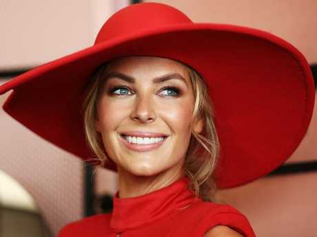 Jennifer Hawkins will still walk in Myer's spring-summer launch later this month. Picture: Ryan Pierse/Getty Images for the VRC.