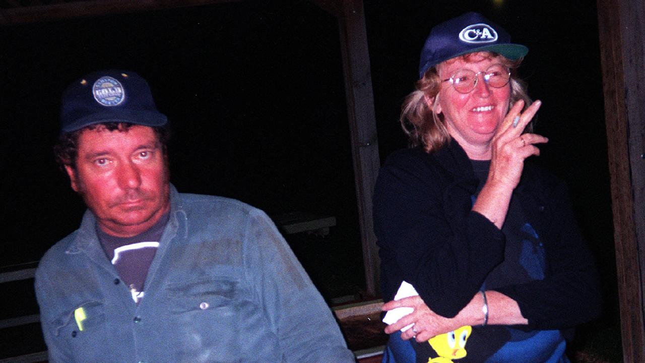 Convicted murderer Katherine Knight with her late defacto husband John Price in March, 2000. Picture: Supplied
