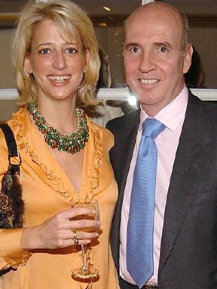 Dorinda Medley and husband, Richard, who died in 2011.  Picture:  Supplied