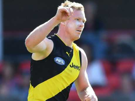 Jack Riewoldt is on target to claim the Coleman medal. Picture: AAP Images