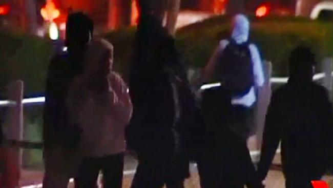 More than 100 youths were involved in Wednesday's rioting. Picture: 7 News