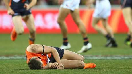 Josh Kelly left motionless after a sling tackle.