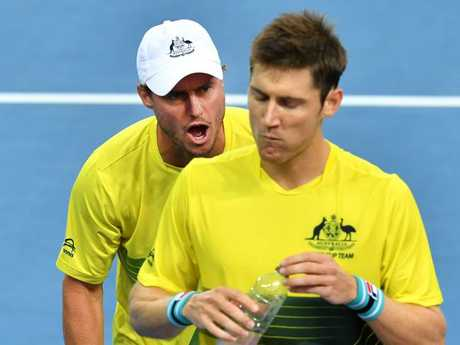 Current Australian team captain Lleyton Hewitt is one of the greatest Davis Cup players in history. Picture: AAP