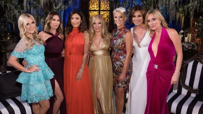 Real Housewives of New York, including Bethenny Frankel, in red dress.  Picture:  Bravo
