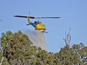 WATCH: Firefighters battle blaze near Ipswich
