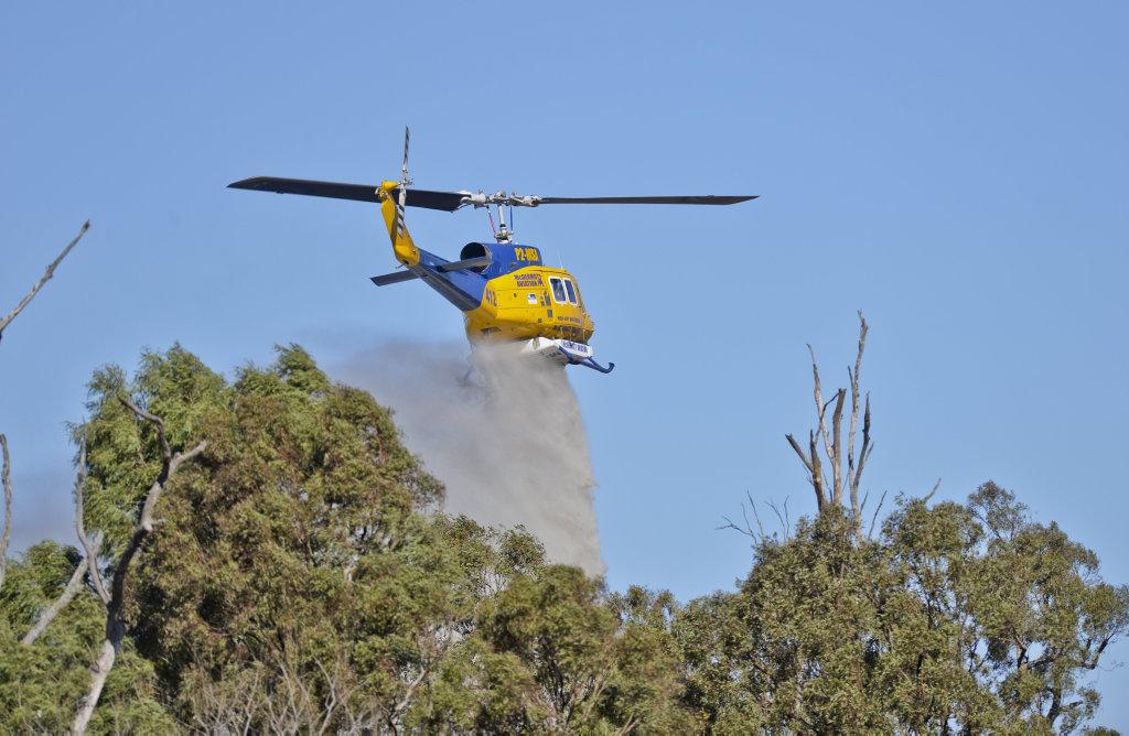 Bushfire on Mutdapilly Dip Road.