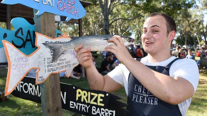 Hervey Bay Seafood Festival - chef Sebastiaan De Kort from Brisbane.