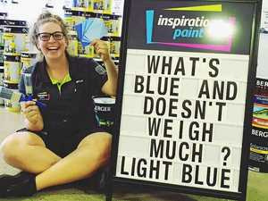 Woman behind the puns: 'Feels good to get people laughing'