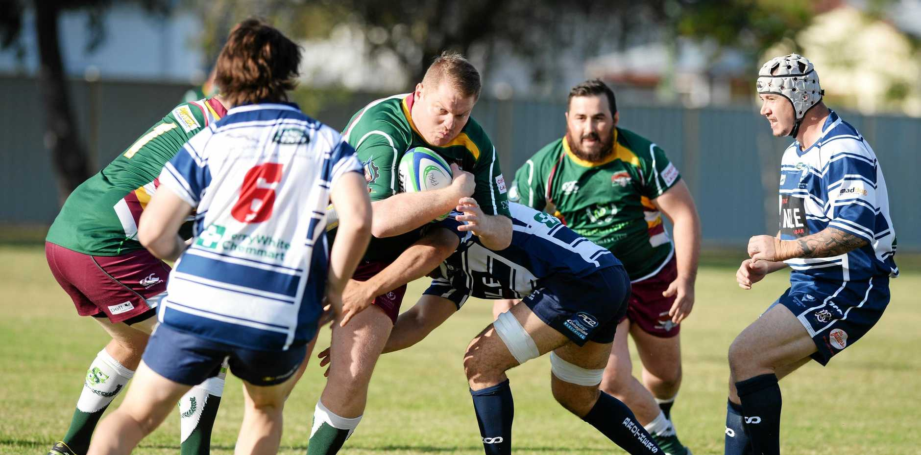 Rugby union: Frenchville's Steve Zammit.