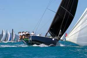 Sailors wait for wind on day 3 of Airlie Beach Race Week