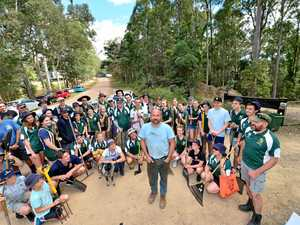 Students get their hands dirty for a good cause