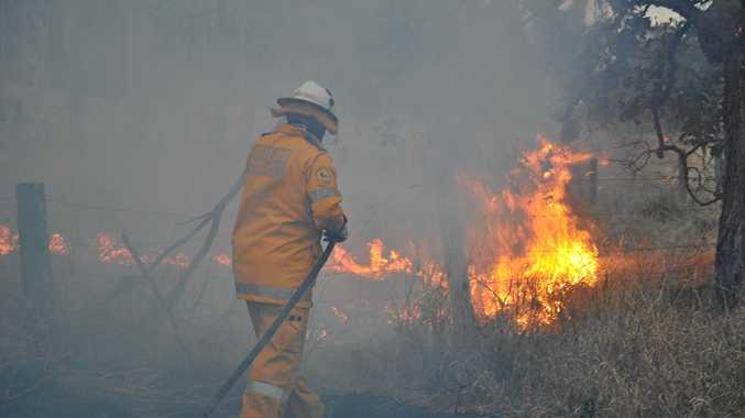 Fire crews respond to highway fire near Emerald.