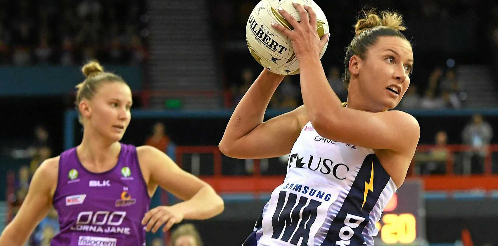 IN ACTION: Lightning midcourter Kelsey Browne during the Super Netball minor semi-final against the Firebirds in Brisbane.