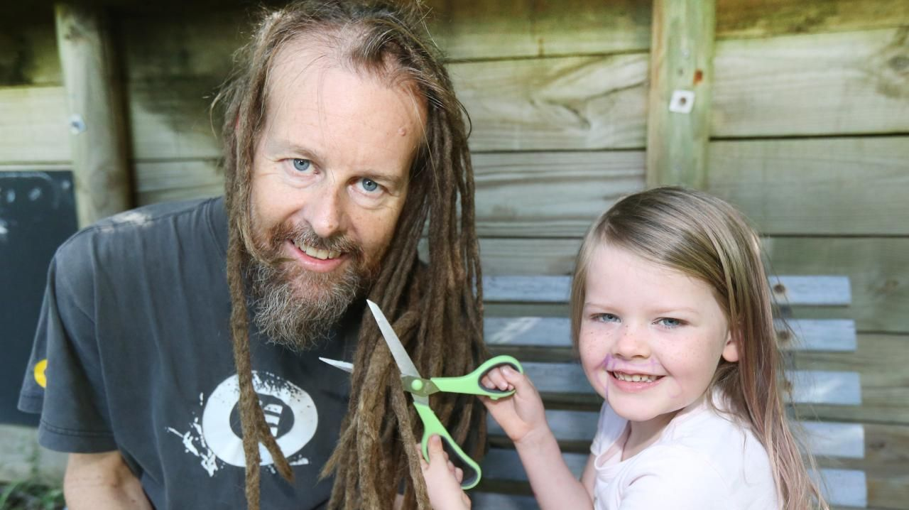Jon Boniface with daughter Mireille Boniface age 5. Picture Mike Batterham