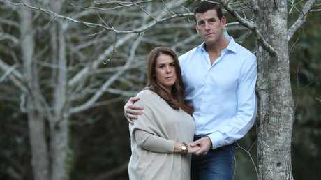 Australia's most decorated Afghanistan veteran Ben Roberts-Smith with his wife Emma. Picture: Lyndon Mechielsen/The Australian