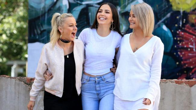 Queensland bachelorettes Christina Karklis 23, Tenille Favios, 25, Ashlea Harvey, 30, will vie for Nick Cummins' heart in the new season of The Bachelor. Picture: Jamie Hanson