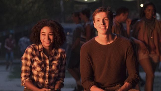 Amandla Stenberg, left, and Harris Dickinson star in The Darkest Minds. Picture: Daniel McFadden/Twentieth Century Fox
