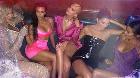 Khloe Kardashian shared this photo from Kylie Jenner's 21st party.