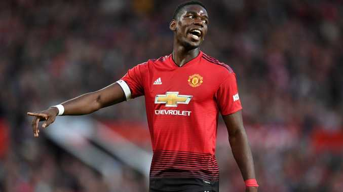 Paul Pogba made it clear he's not happy after Manchester United's win. Picture: Getty Image