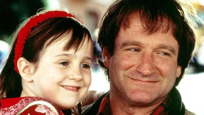 Mara Wilson alongside Robin Williams in Mrs Doubtfire.
