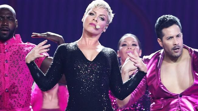 Pink reignites her Beautiful Trauma tour in Sydney after falling sick.