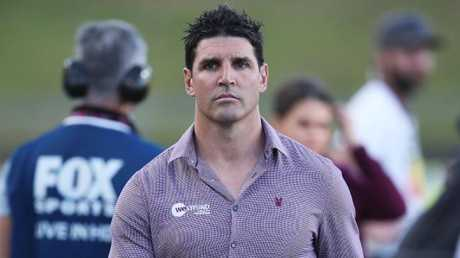 Manly coach Trent Barrett's future is up in the air. Picture: Phil Hillyard