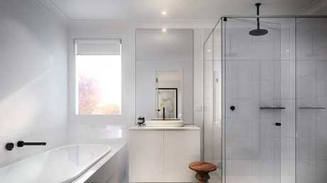 Bathrooms will feature large porcelain tiles, custom-made vanities, reconstituted stone benchtops, and premium fittings.